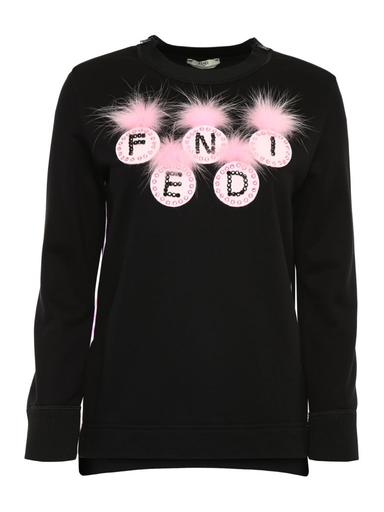 Fendi Pompon Sweatshirt - BLACK|Nero