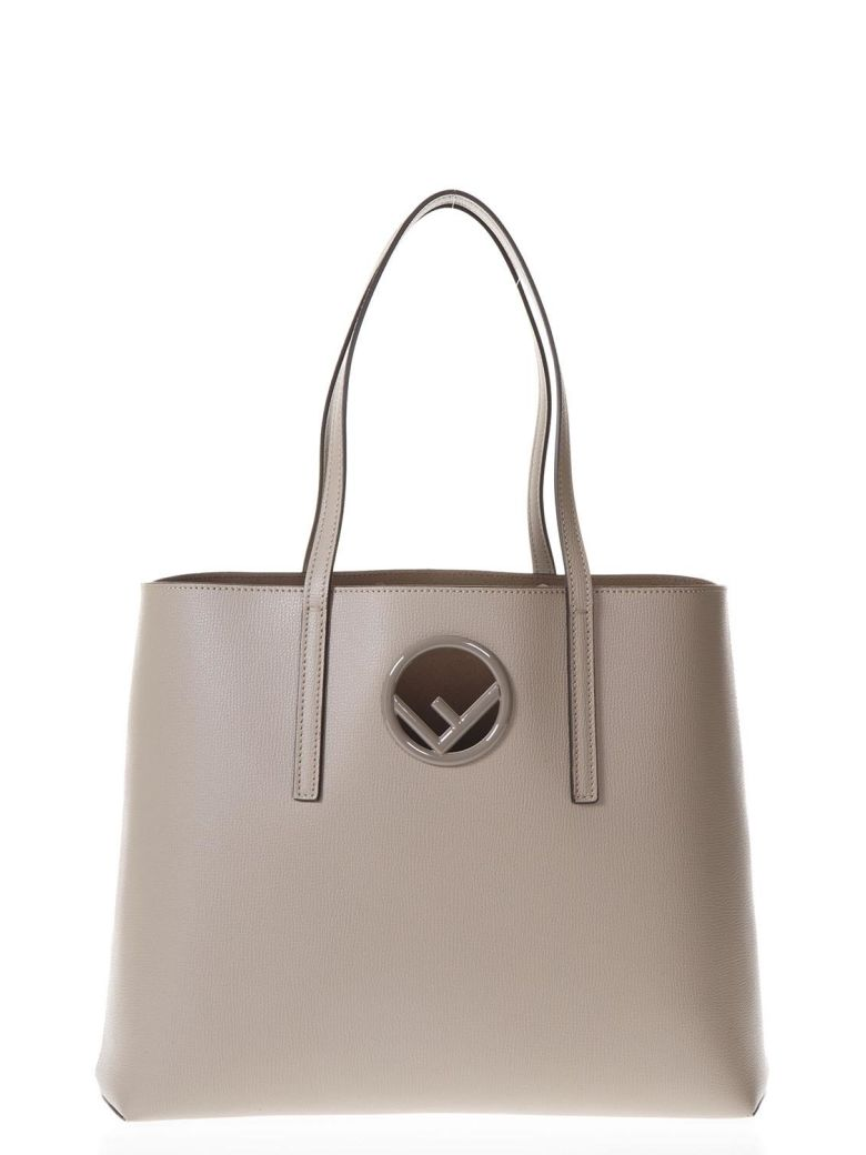 DOVE GRAY SHOPPING BAG IN LEATHER