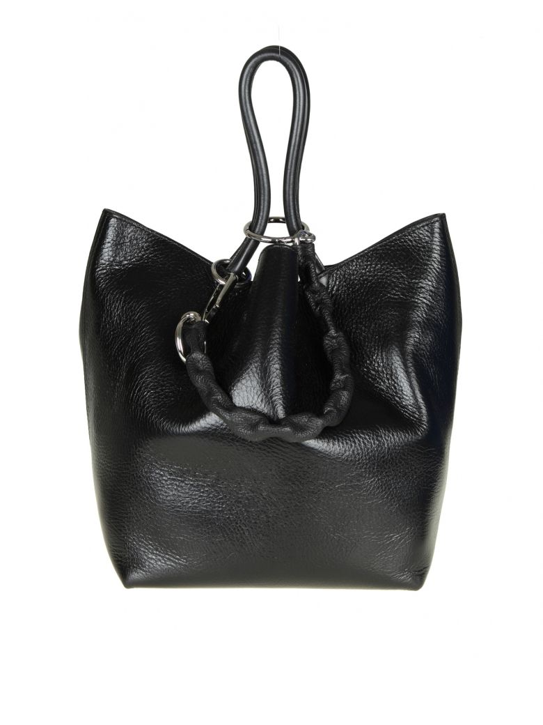 Small Roxy Leather Tote Bag - Black