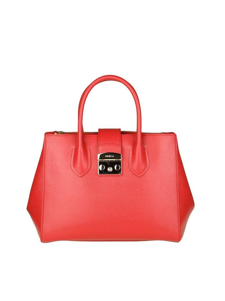 Furla Metropolis M red leather bag o1PRujZ9UP