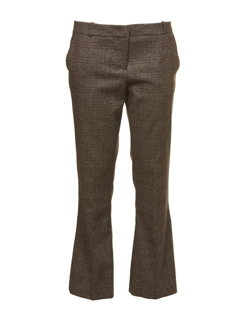 KILTIE & CO. Plaid Cropped Tailored Trousers in Moro