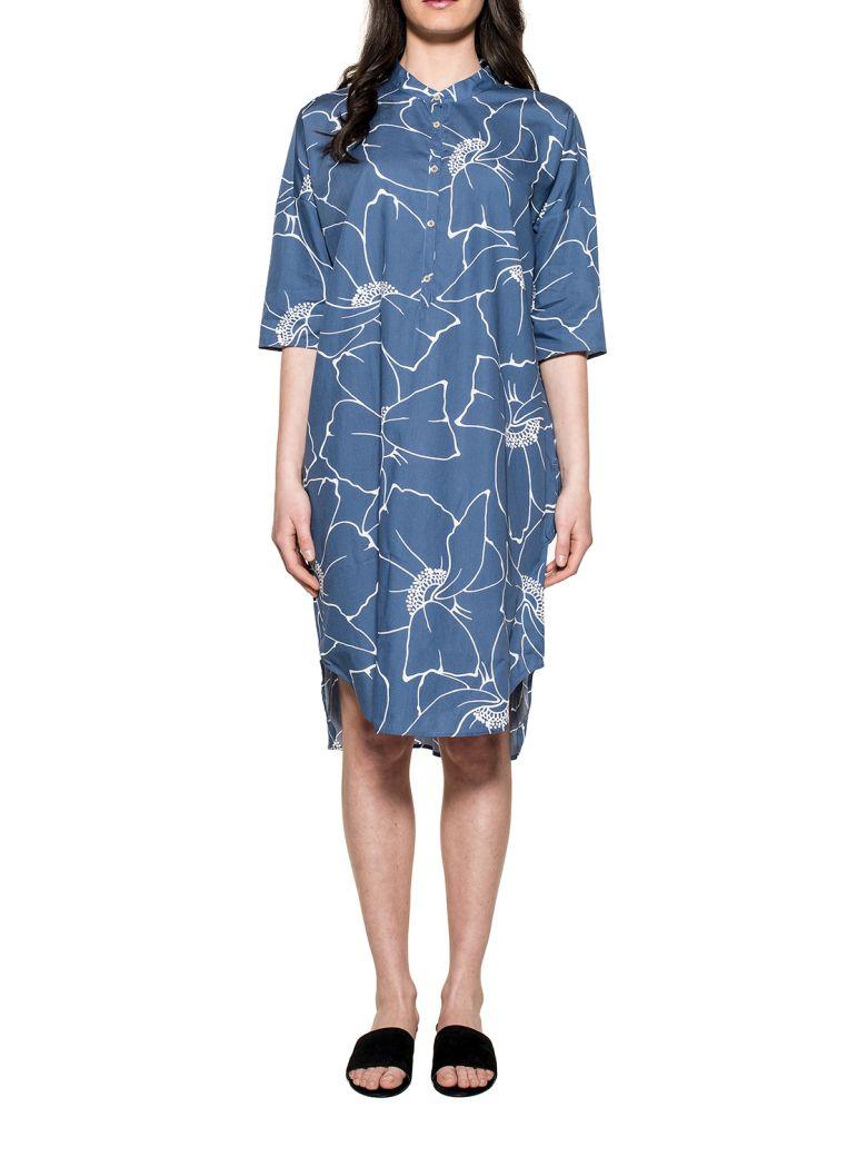 XACUS AVION BLUE-WHITE INES DRESS