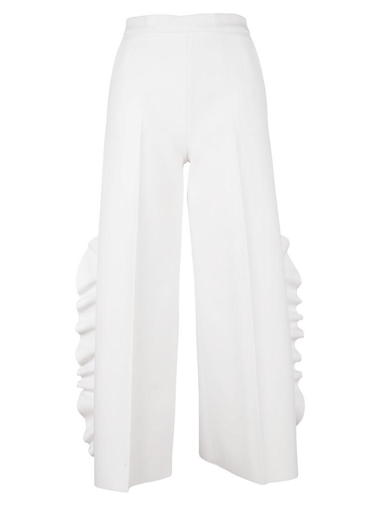 MSGM RUFFLE DETAIL PANTS