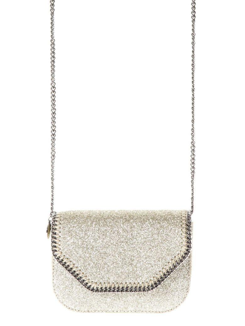 stella mccartney bright gold bag with flap