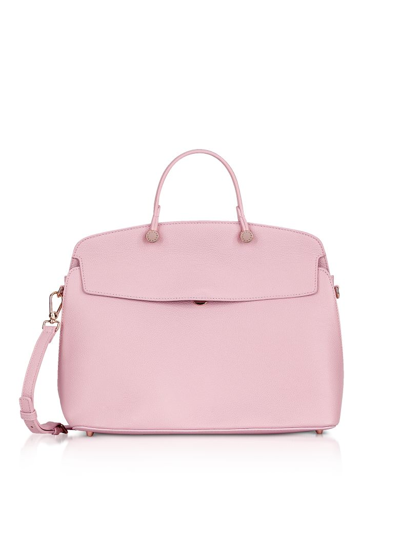 Furla My Piper Medium Top Handle Satchel Bag In Pink Modesens Dome Small Onyx Authentic