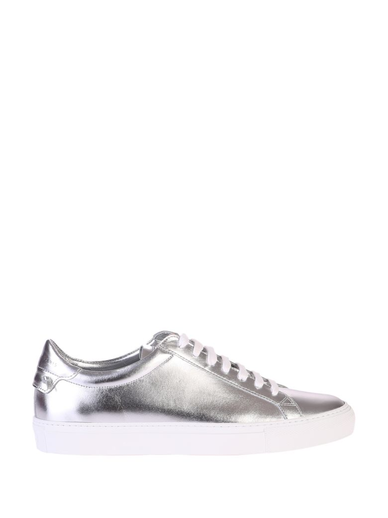 Givenchy Leathers METALLIZED SILVER SNEAKERS