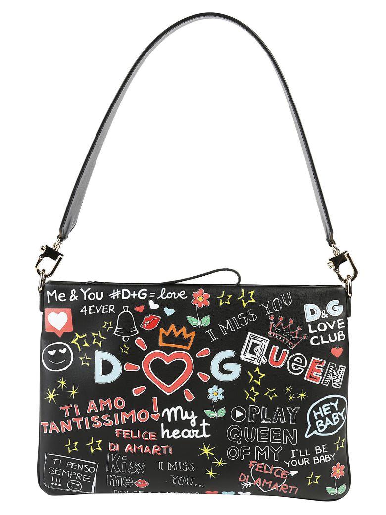 Cleo Bag In Printed Nappa Leather in Black