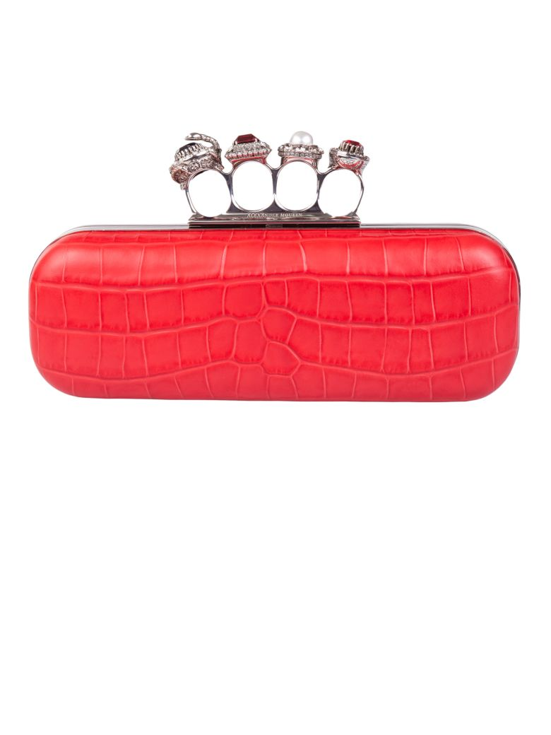Knuckleduster Clutch in Red