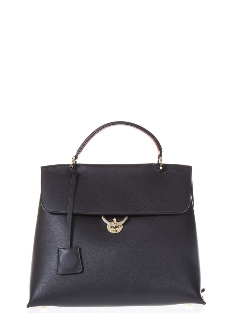 JET SET BLACK LEATHER HAND BAG