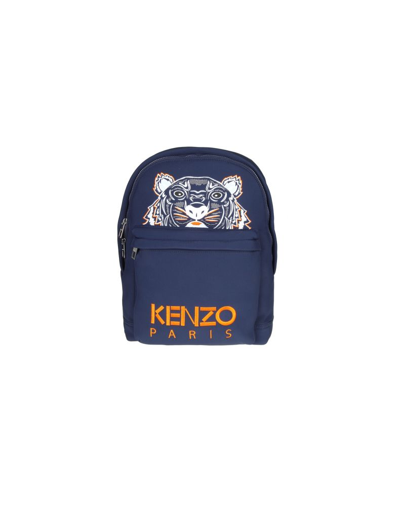 aa69dea1 Kenzo Backpack In Neoprene Bluette Color With Embroidered Tiger In 76 Navy  Blu