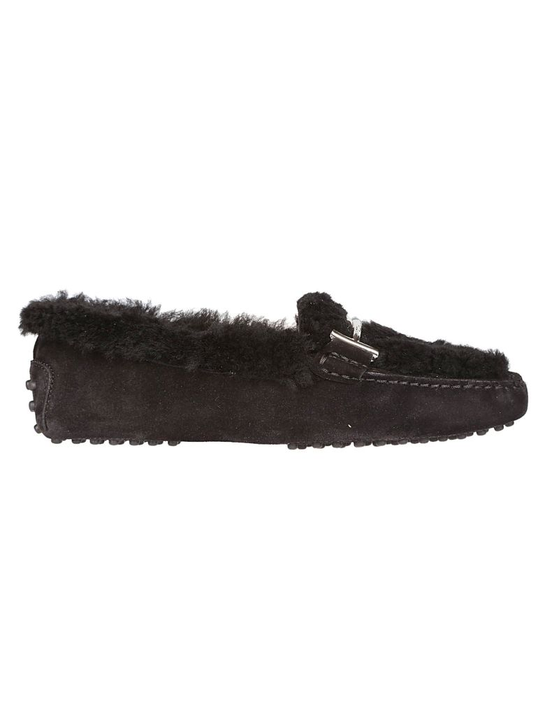 FUR LOAFERS