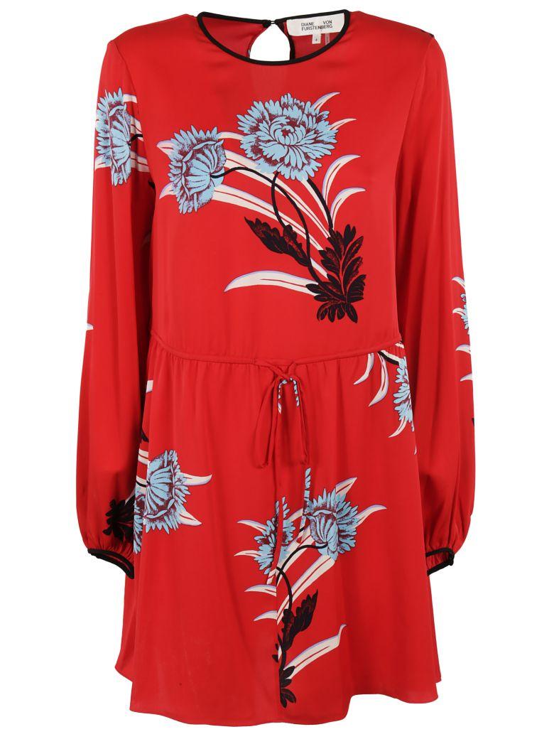 Diane Von Furstenberg  FLORAL PRINTED MINI DRESS