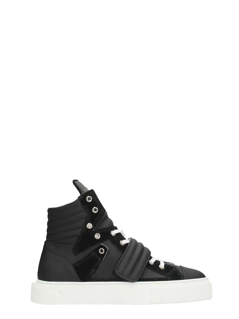 GIENCHI Hypnos Black Leather And Suede Sneakers