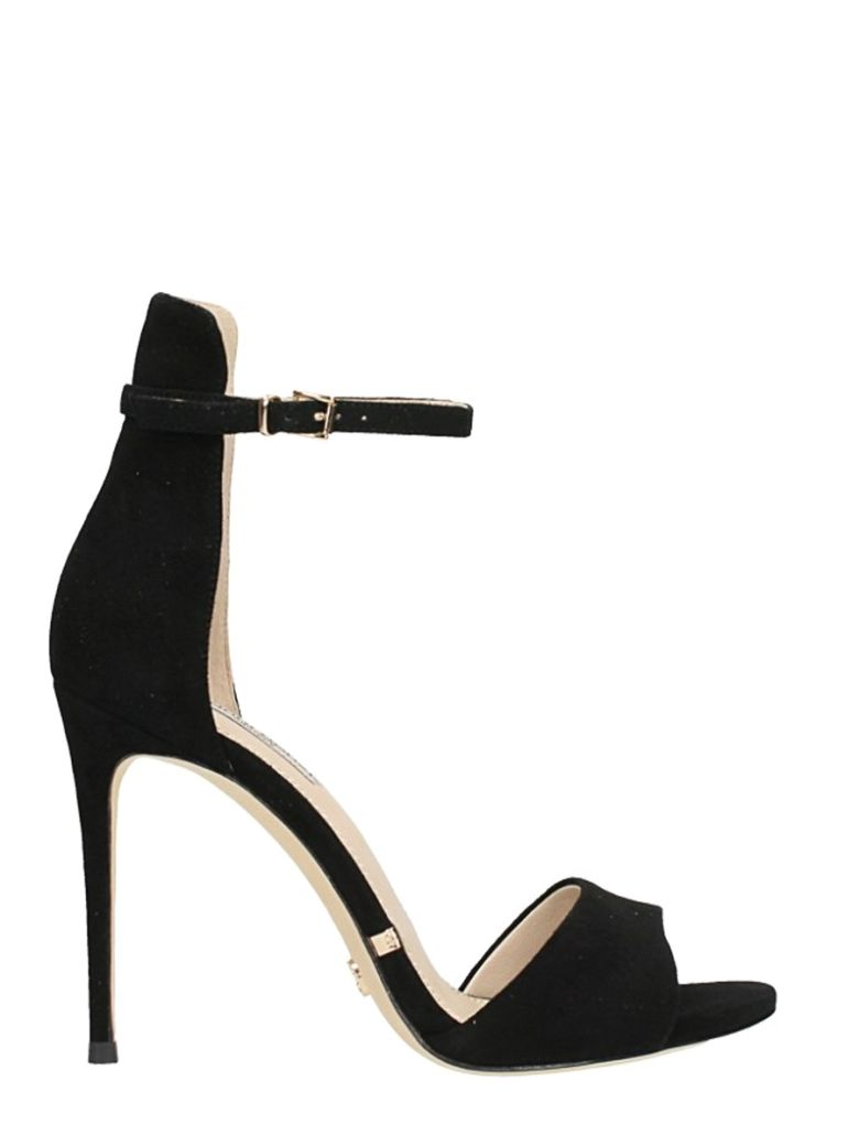 GIANNI RENZI BLACK SUEDE LEATHER SANDALS