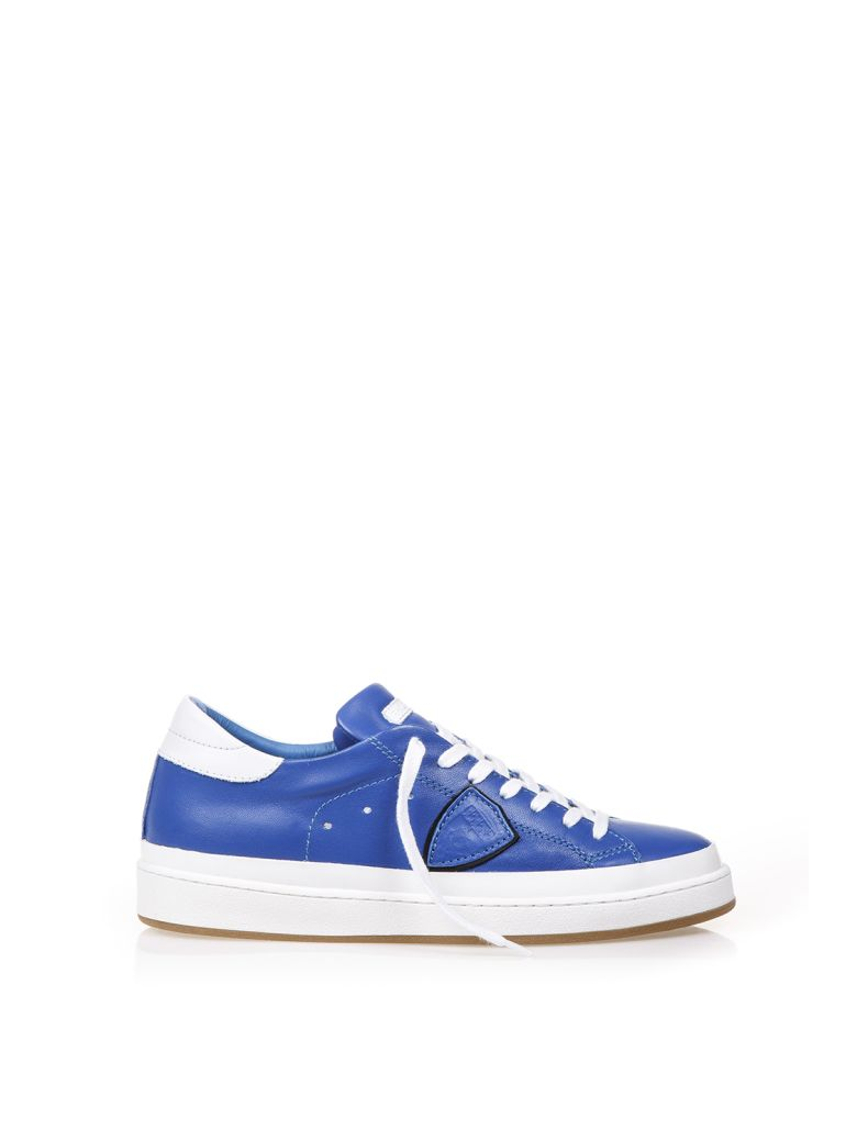 Philippe Model  LAKERS LEATHER LOW-TOP SNEAKERS