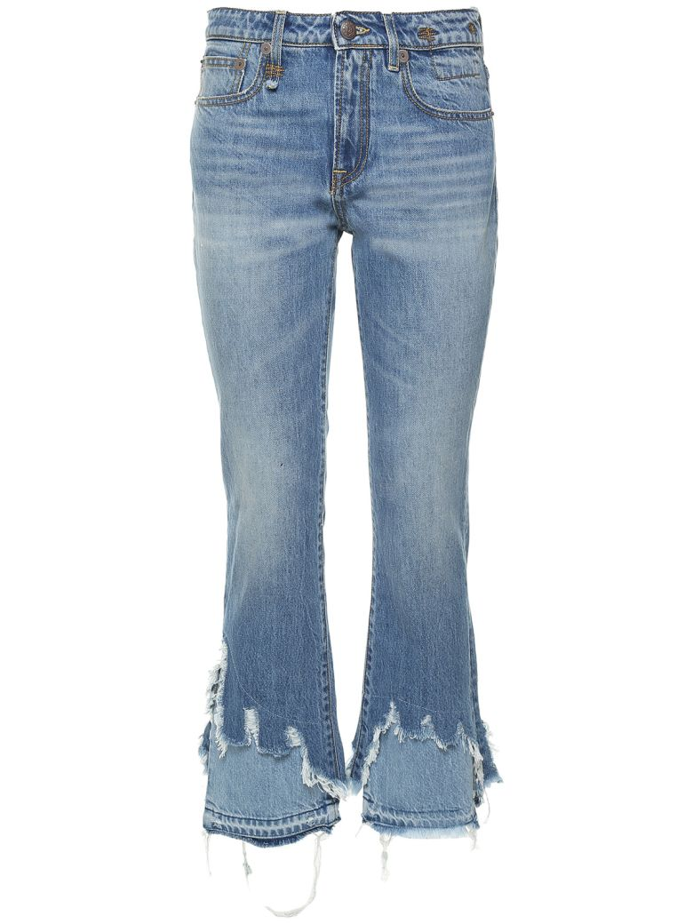 KICK SHREDDED-HEM JEANS