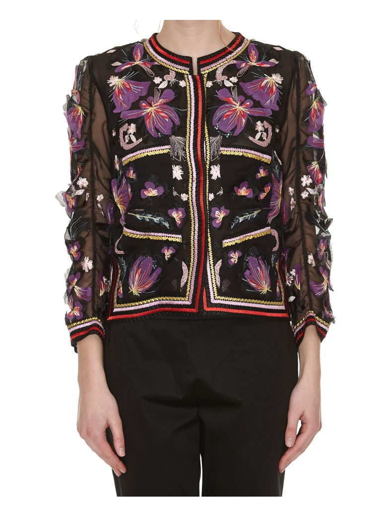 EMBROIDERED SHEER JACKET