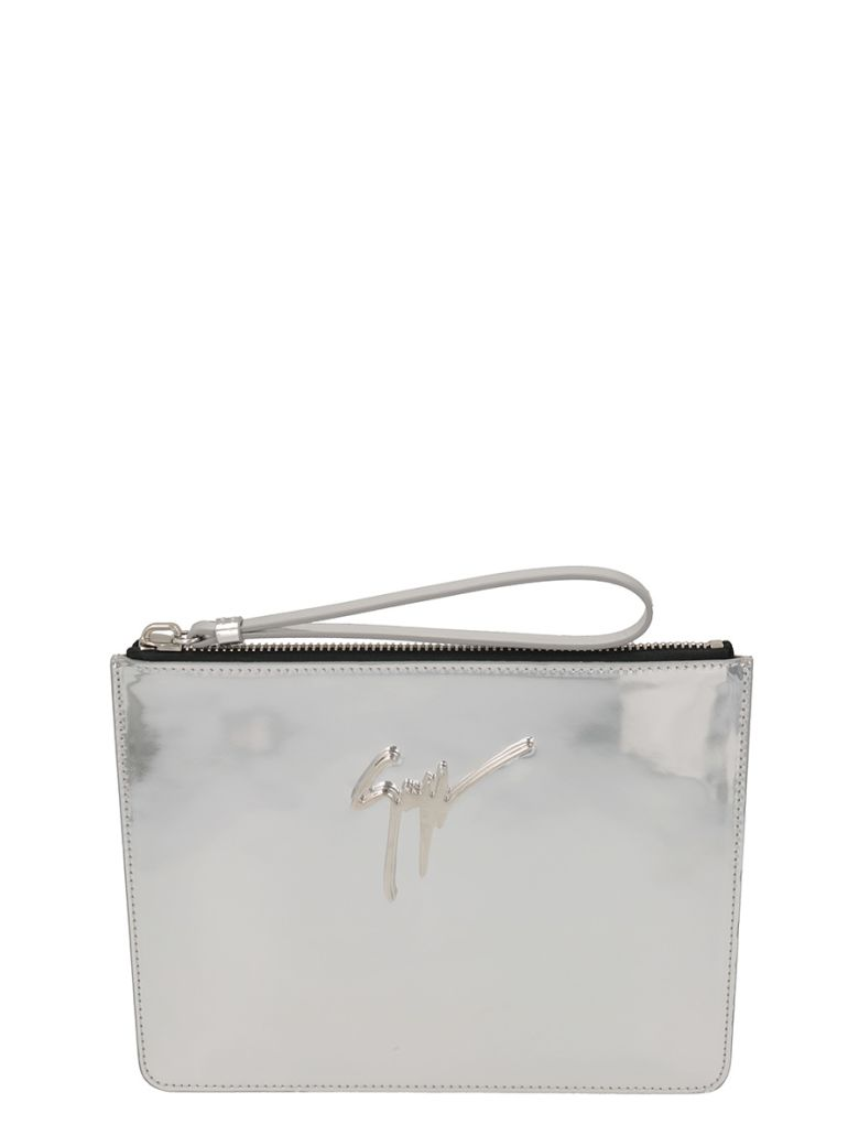 MARGERY METAL SILVER CLUTCH