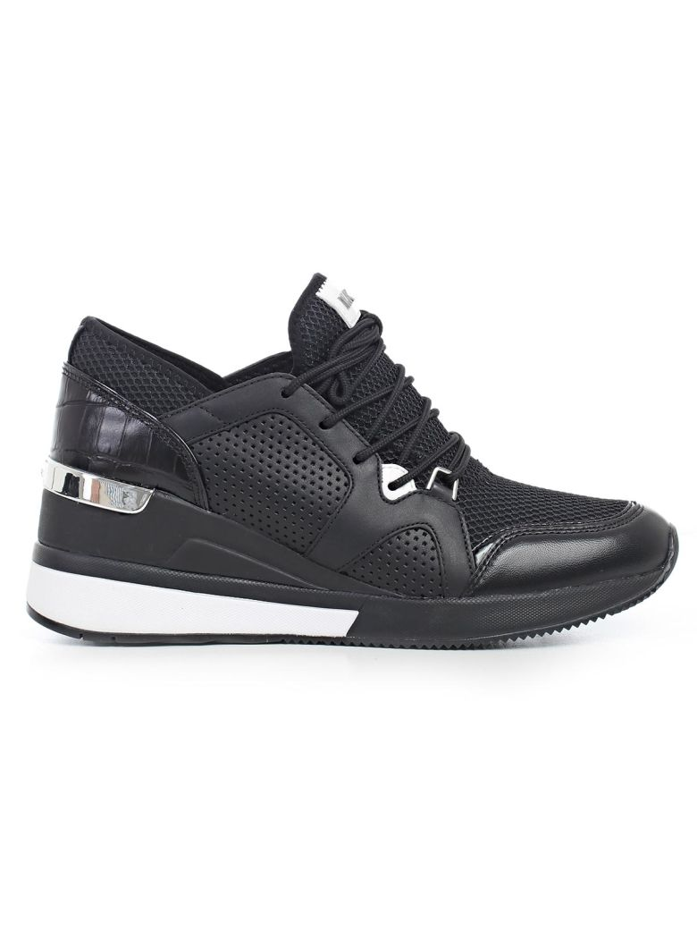 Scout Leather And Mesh Trainers, Black