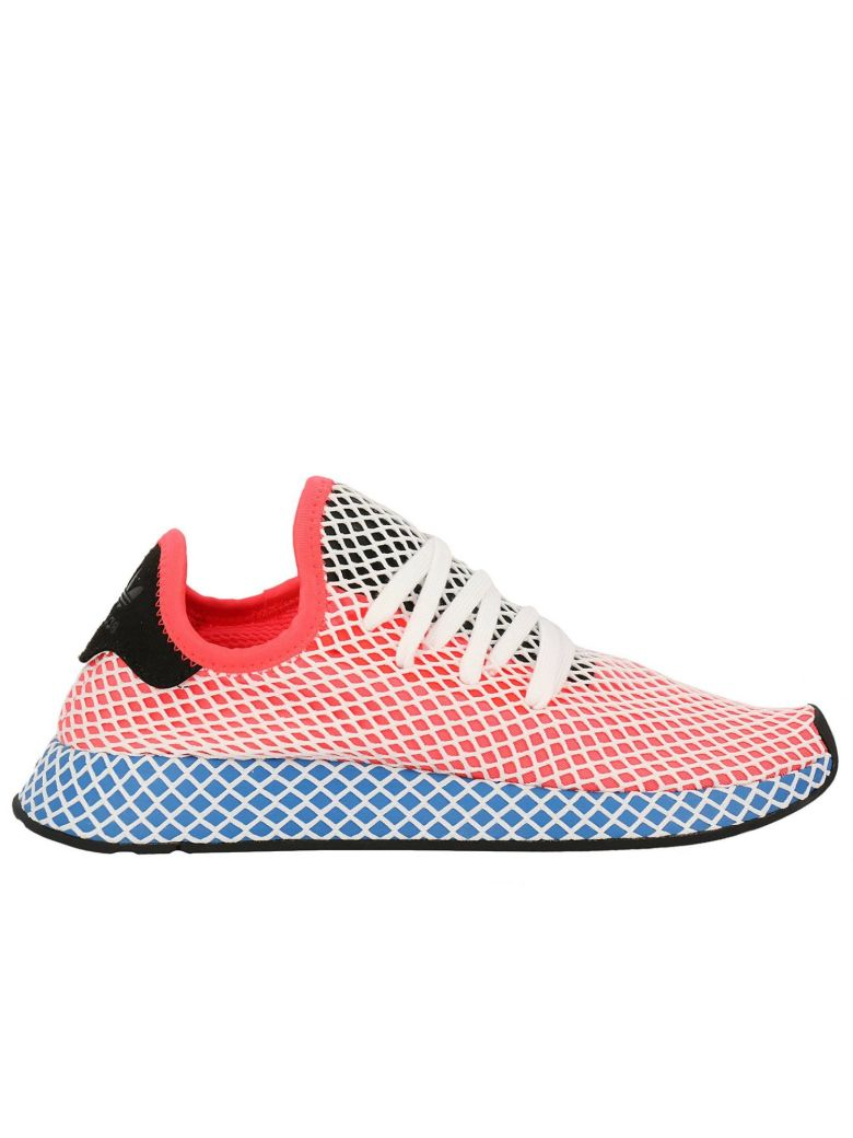 e2d819ce741 Adidas Originals Sneakers Adidas Deerupt Runner Sneakers In Knit And Mesh  Stretch Net Effect In Solred