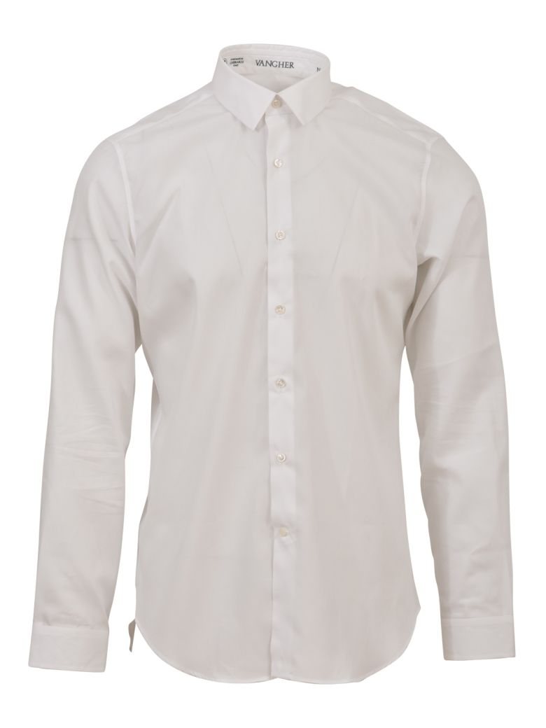 VANGHER WHITE COTTON SHIRT