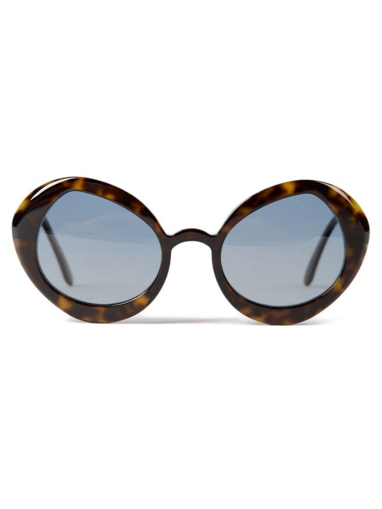 DELIRIOUS Round Frame Sunglasses in Titania