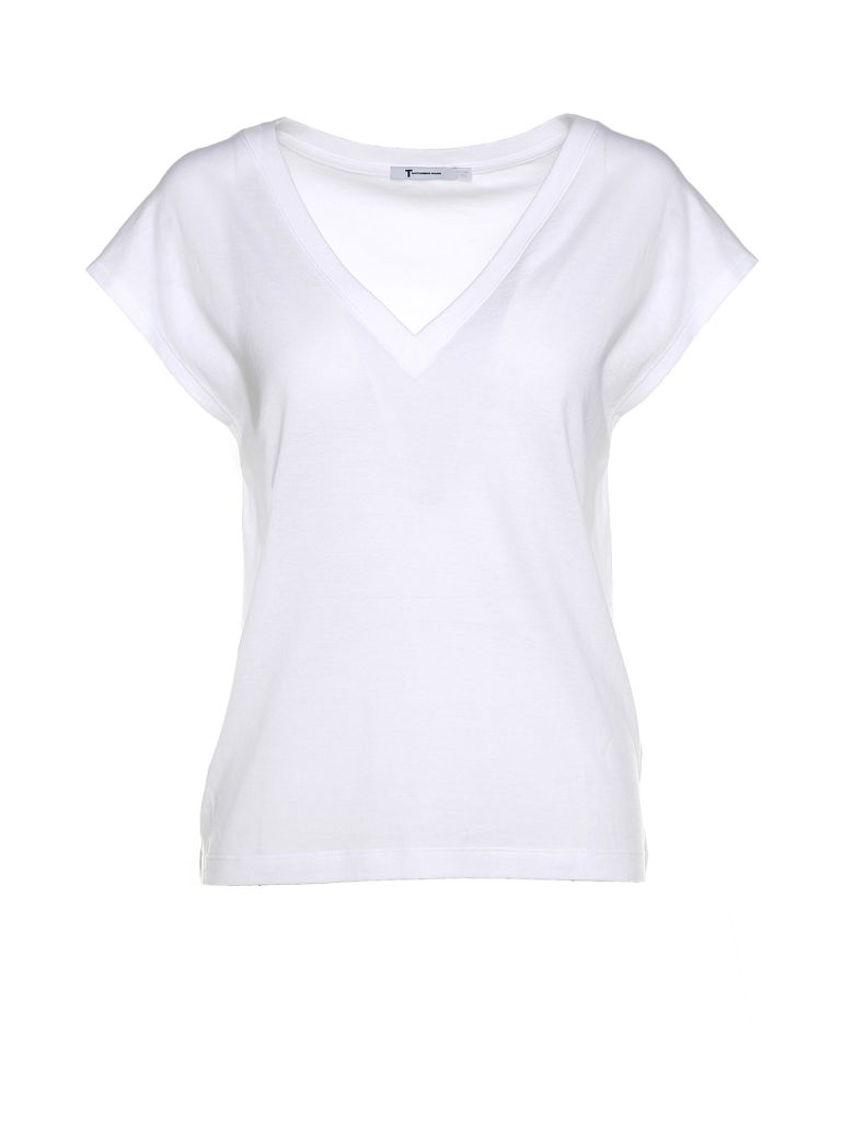 V-neck superfine cotton-jersey t-shirt Alexander Wang Aaa Quality Buy Cheap For Sale Sale Choice Store With Big Discount Free Shipping Genuine Ge8mPytVK