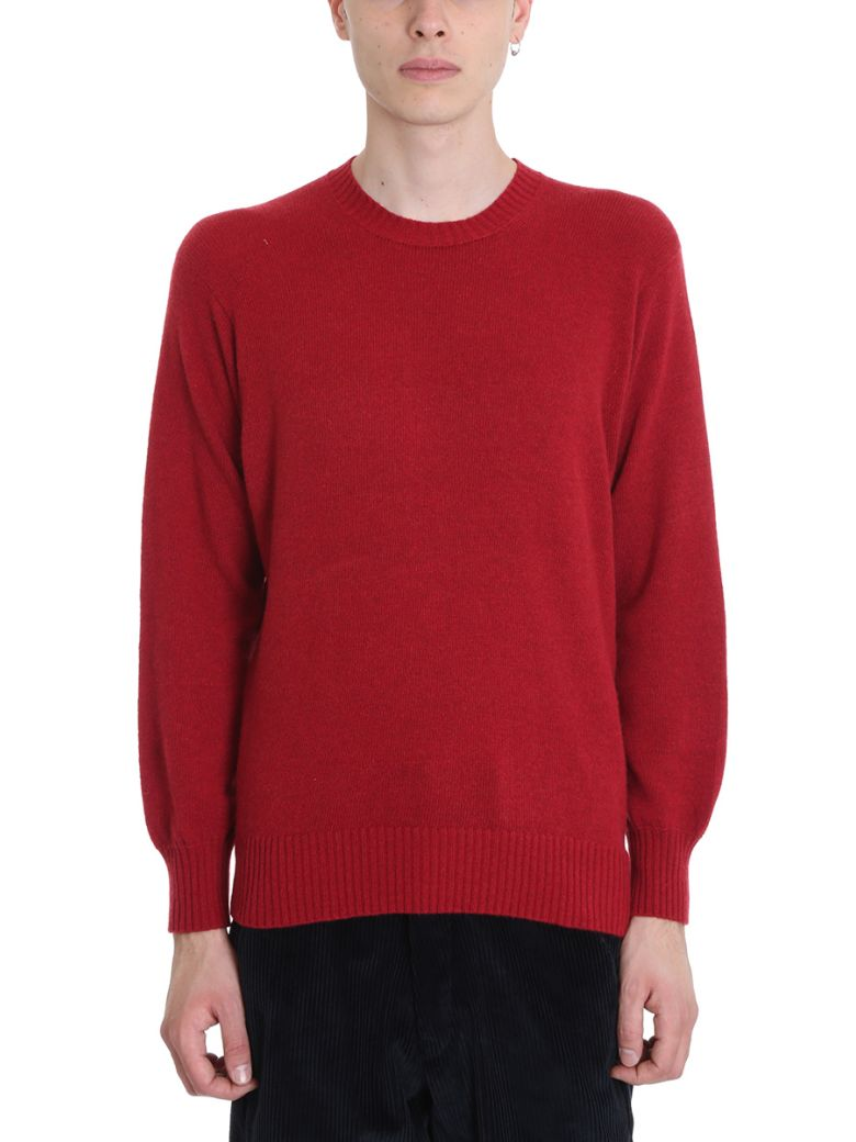 MAISON FLANEUR RED WOOL SWEATER