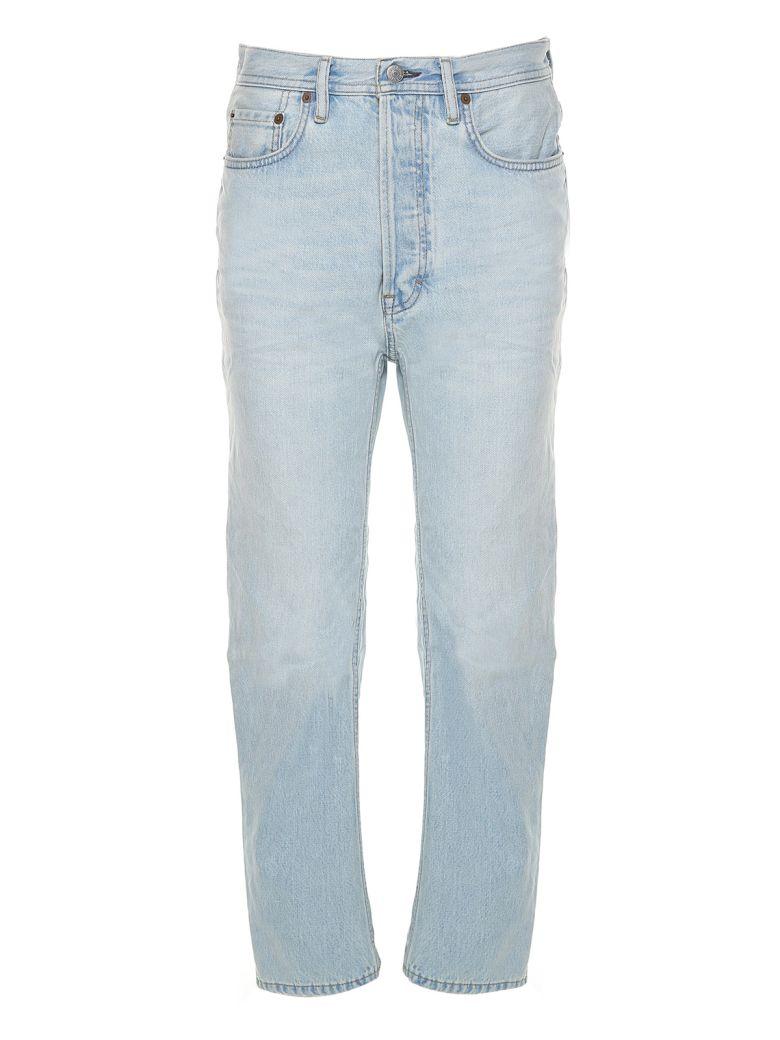 Blå Konst Log Low-Rise Jeans, Light Blue