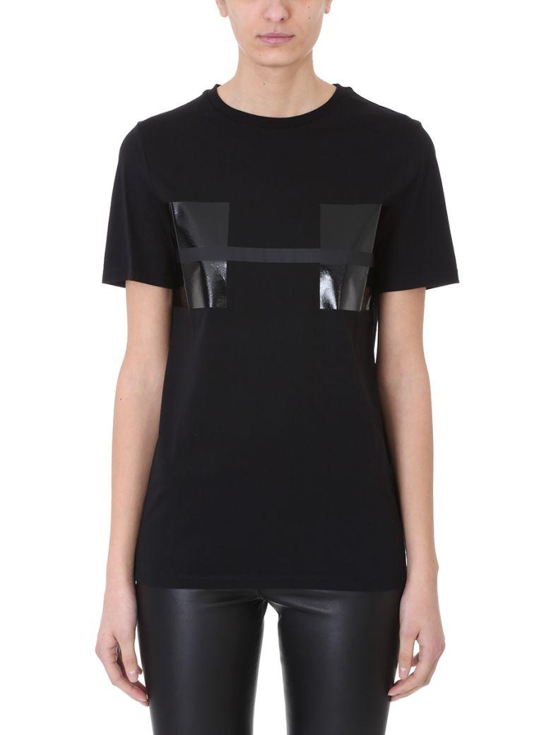 Black Cotton Stripes T-Shirt