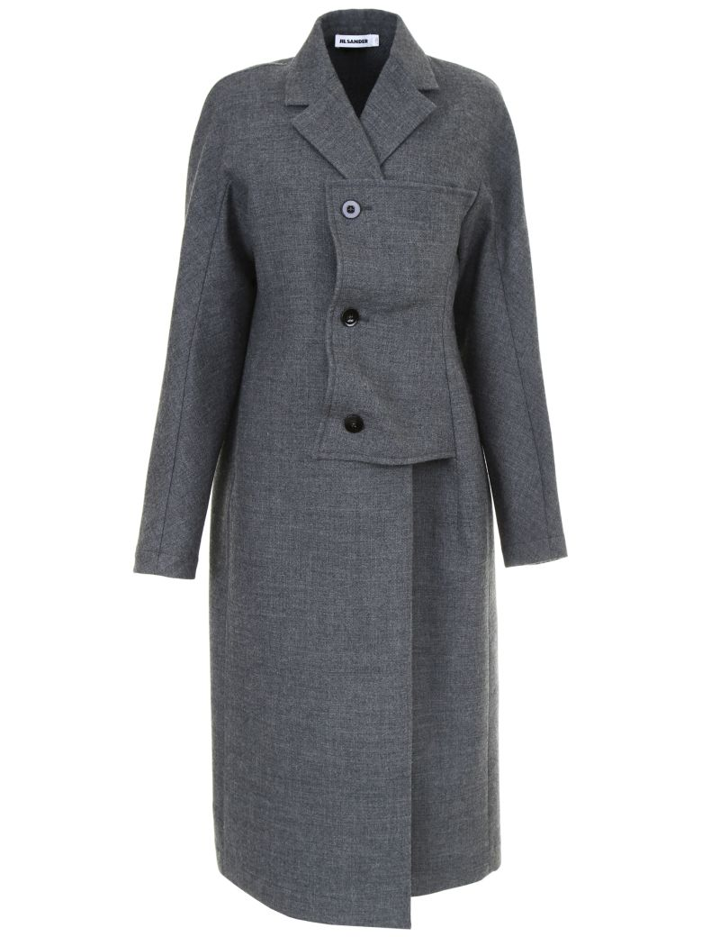 COAT WITH SIDE CLOSURE