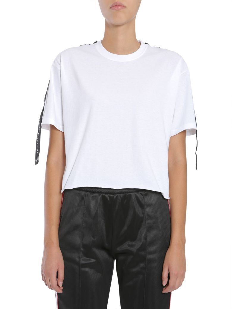 FORTE COUTURE Cropped T-Shirt in Grey