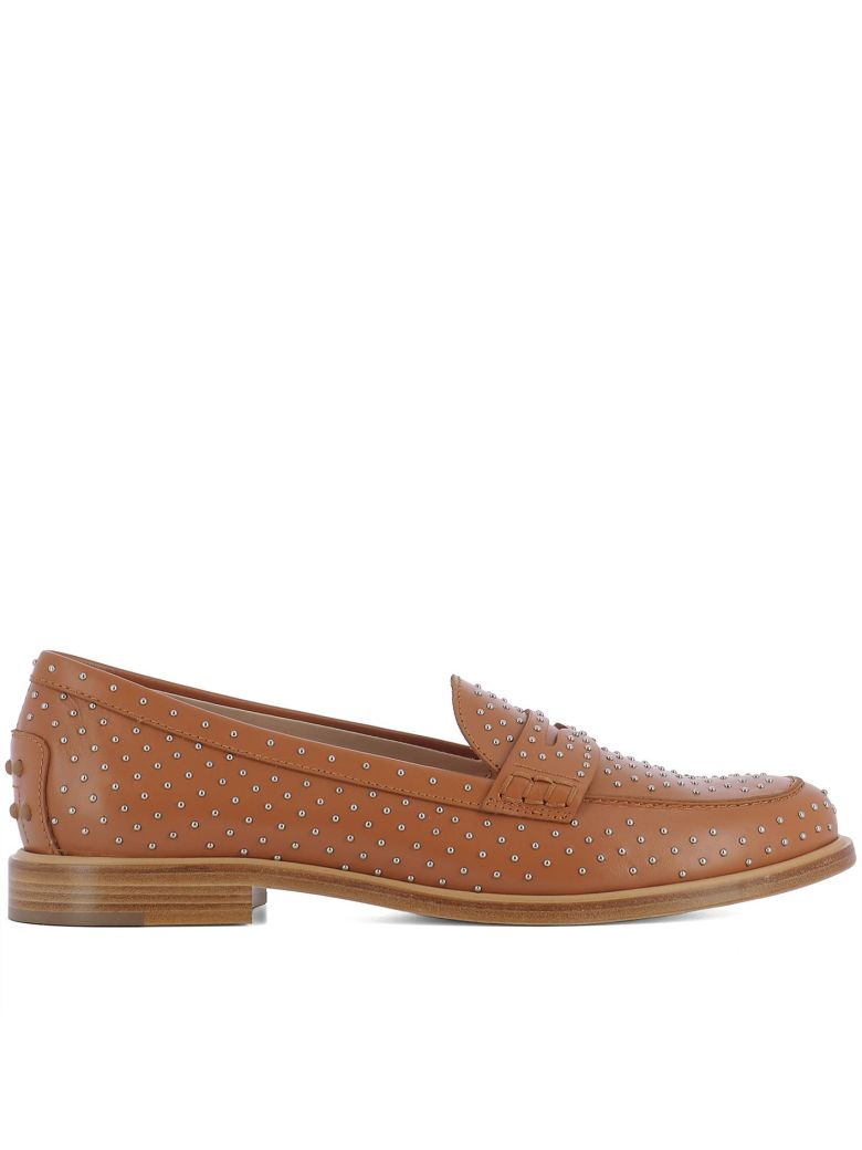 BROWN LEATHER LOAFERS
