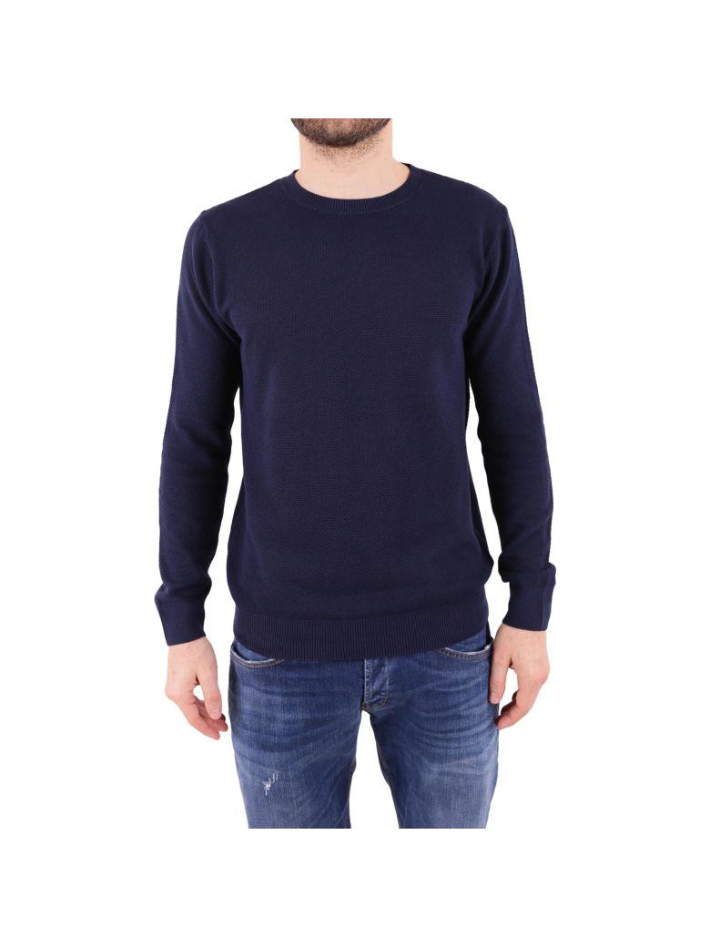 DANIELE FIESOLI Cotton Sweater in Dark Blue