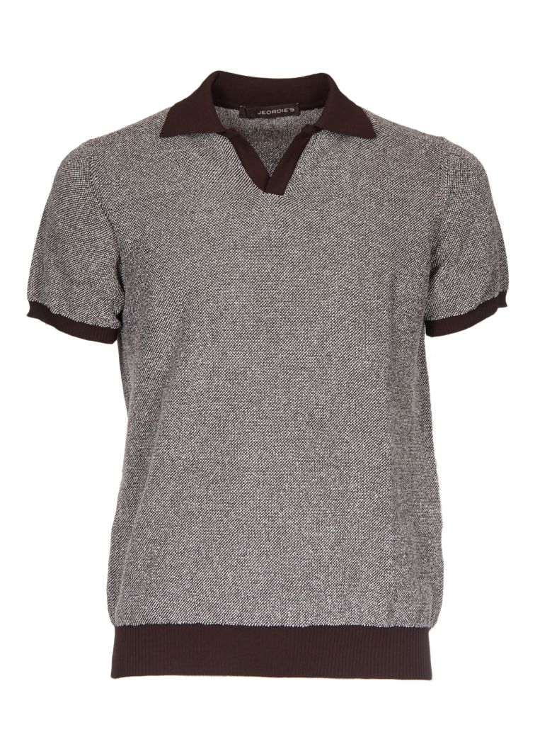 JEORDIES RIBBED POLO SHIRT