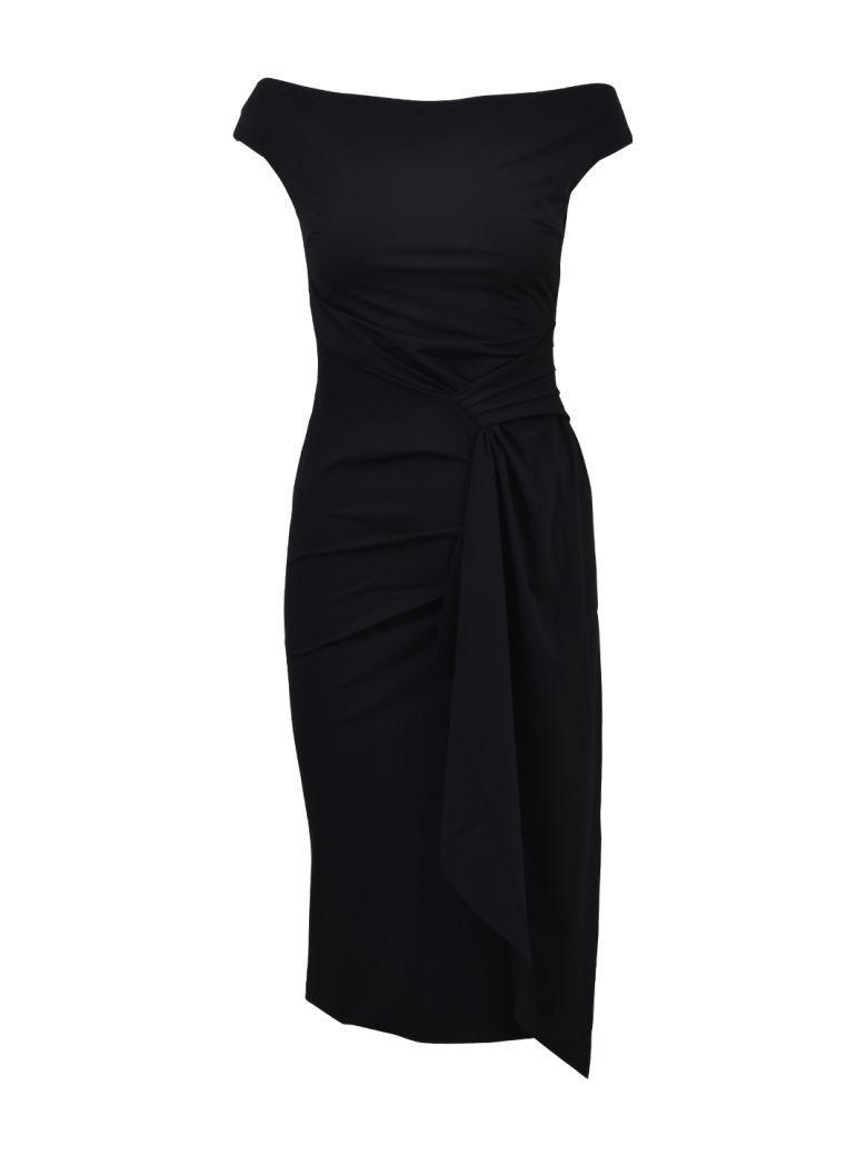 LA PETIT ROBE DI CHIARA BONI OFF SHOULDER DRESS BLACK