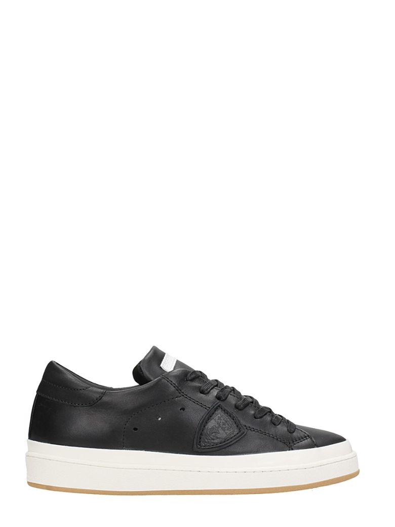 Philippe Model  OPERA LOW BLACK LEATHER SNEAKERS