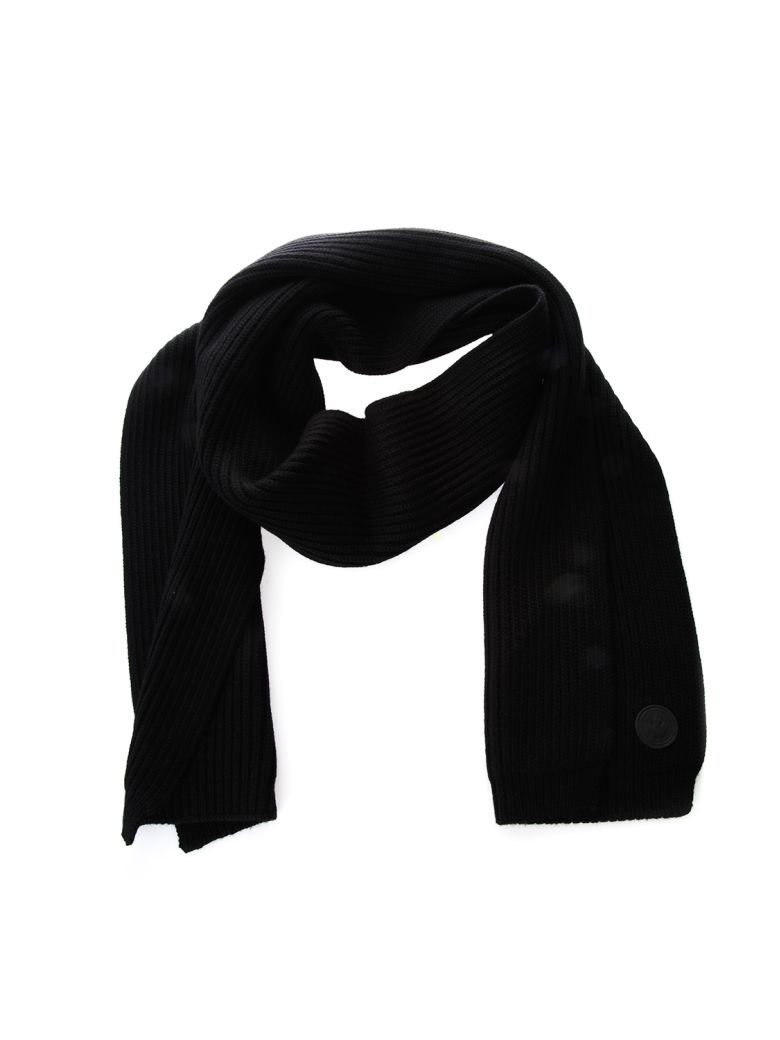 logo knitted scarf - Black Dsquared2 hlSrO7n