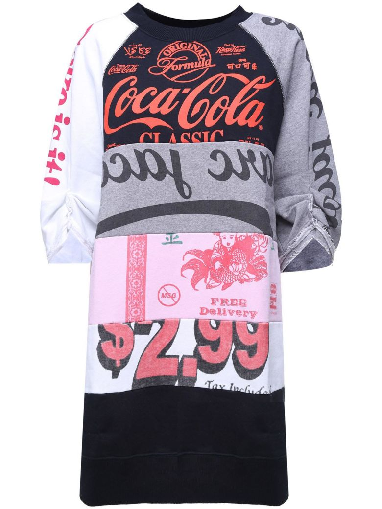 COCA-COLA COTTON-FLEECE DRESS