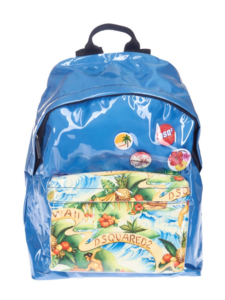 Clearance Pictures Buy Cheap Fast Delivery exotic print backpack - Blue Dsquared2 ANYFTmuM5