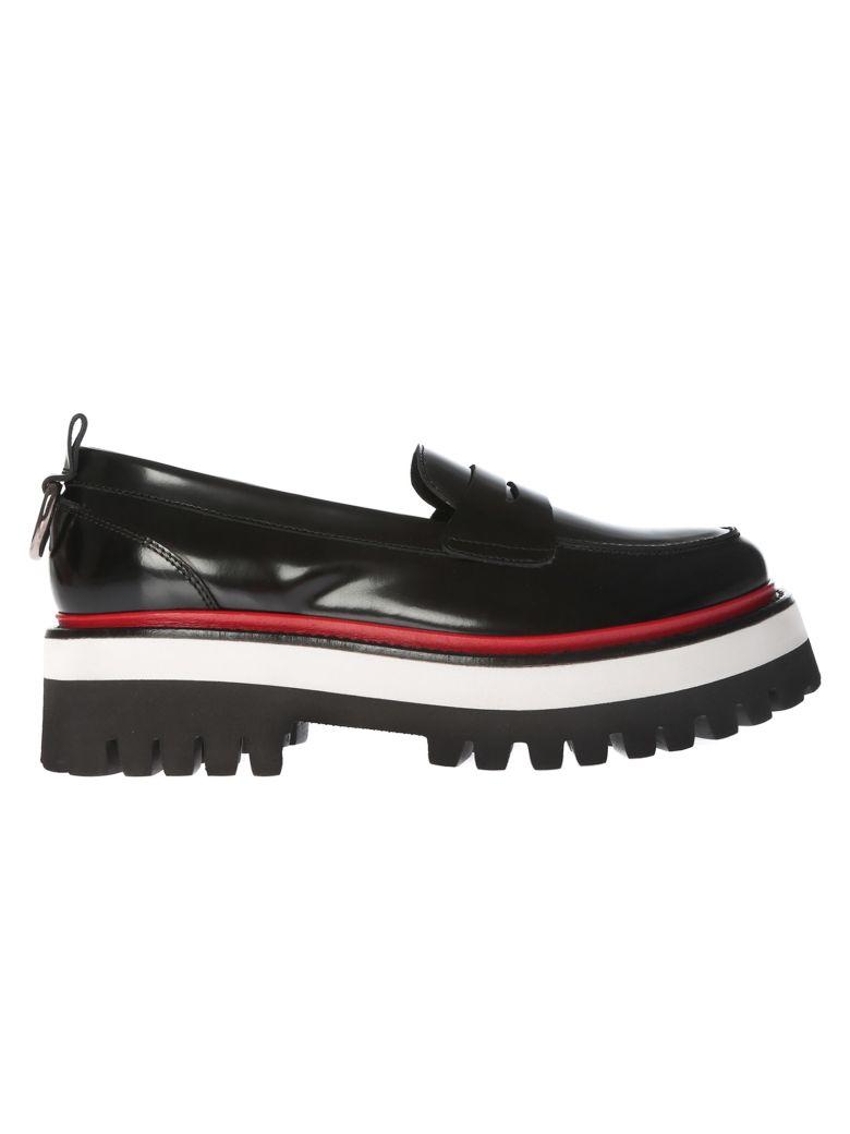 Msgm Ridged Pltform Loafers - Black