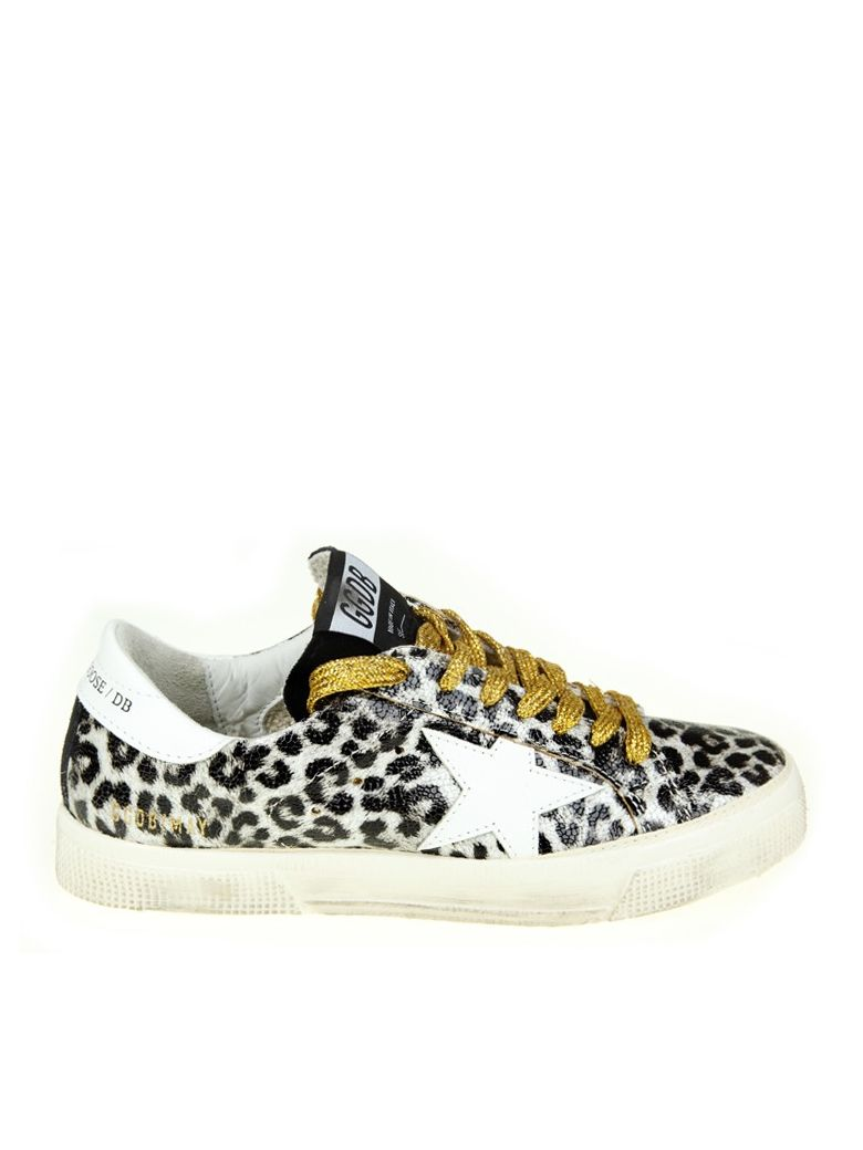 LEOPARD PRINT LEATHER MAY SNEAKERS