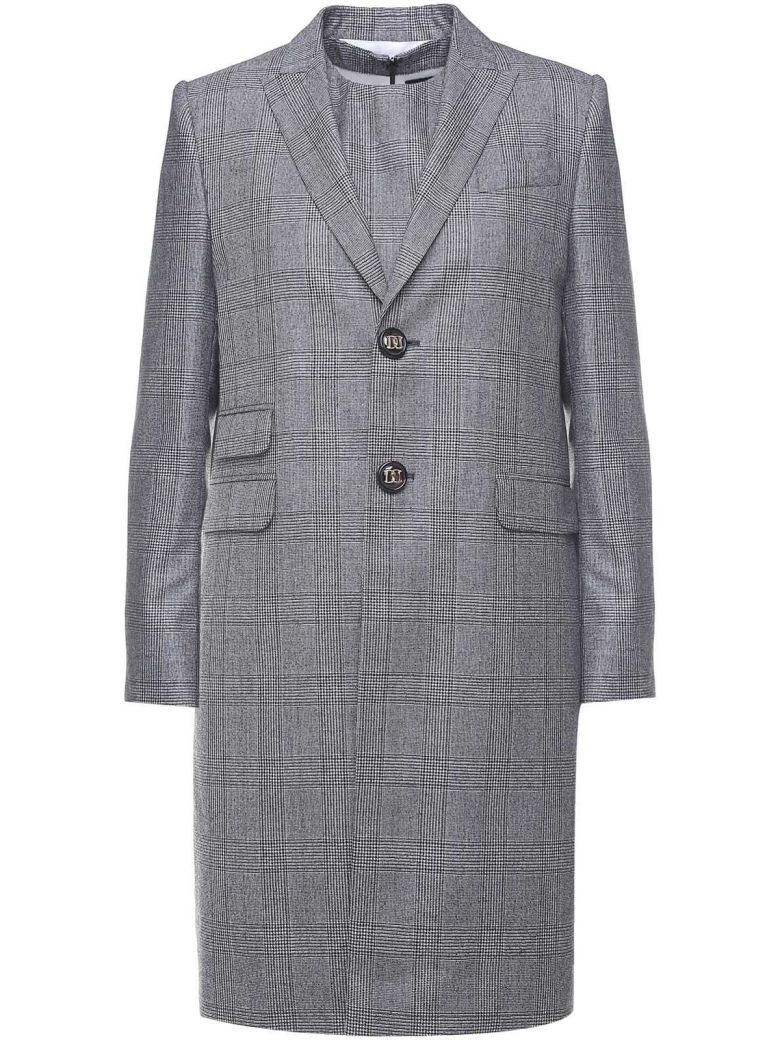 Prince Of Wales-Checked Wool Suit in Grigio