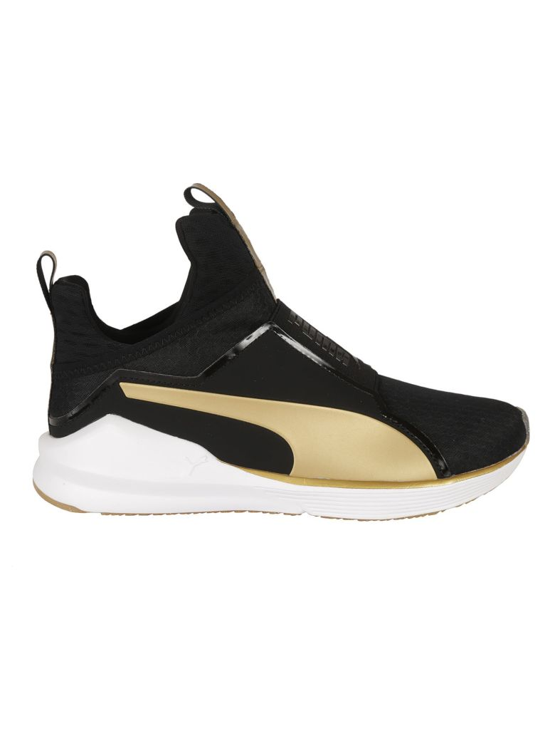 Puma Sneakers BLACK AND GOLD FIERCE SNEAKERS