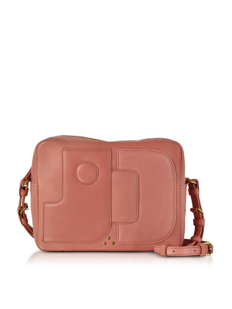 DOMINIQUE ROSE LEATHER CROSSBODY BAG