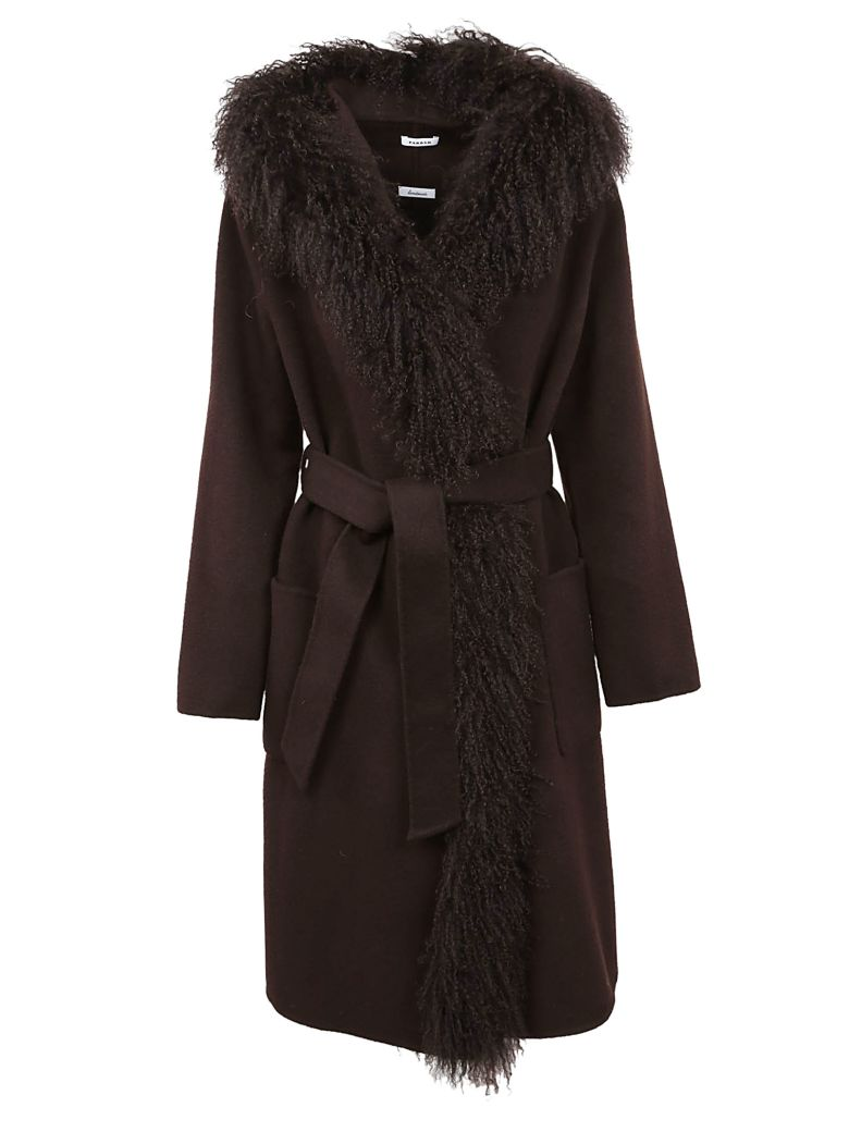 DRAPED BELTED COAT