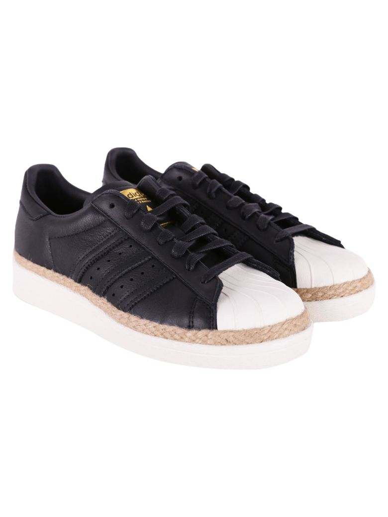 sports shoes 6e986 d8c47 Adidas Originals Superstar 80S New B Sneakers In Black - White