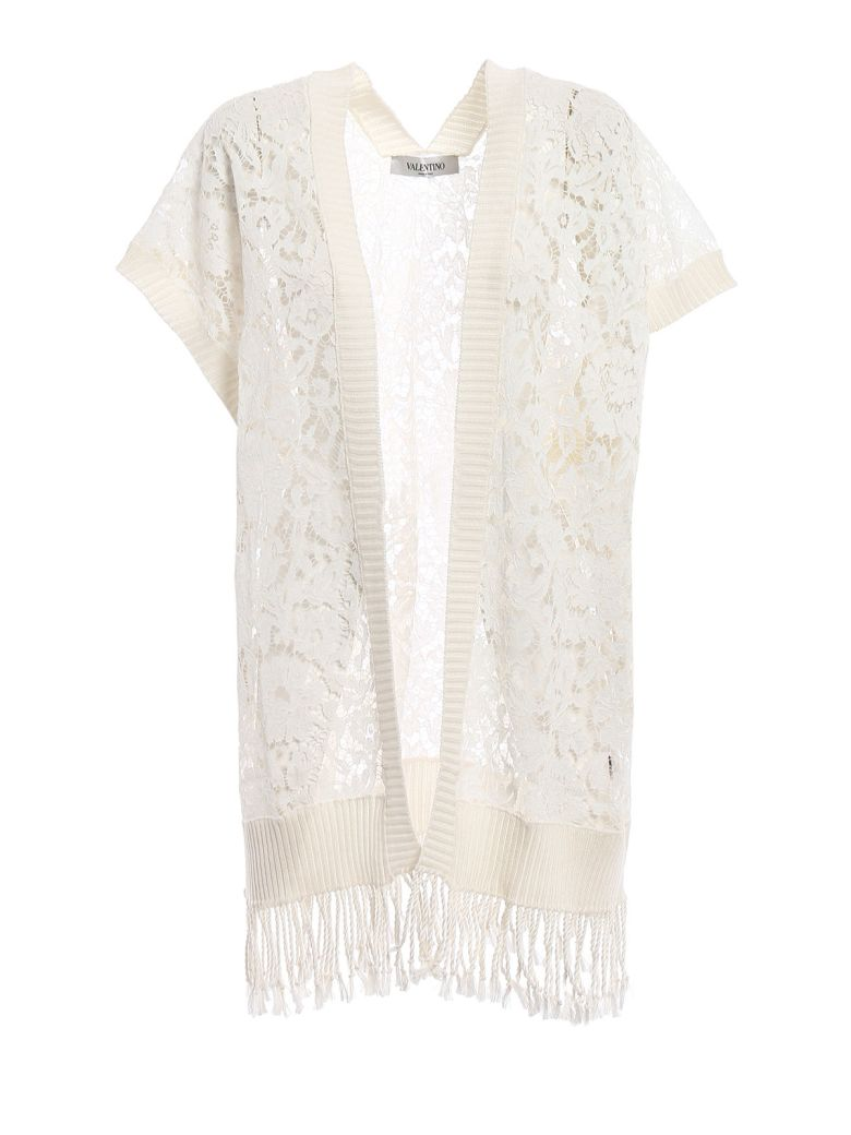 Valentino  LACED DETAIL PONCHO