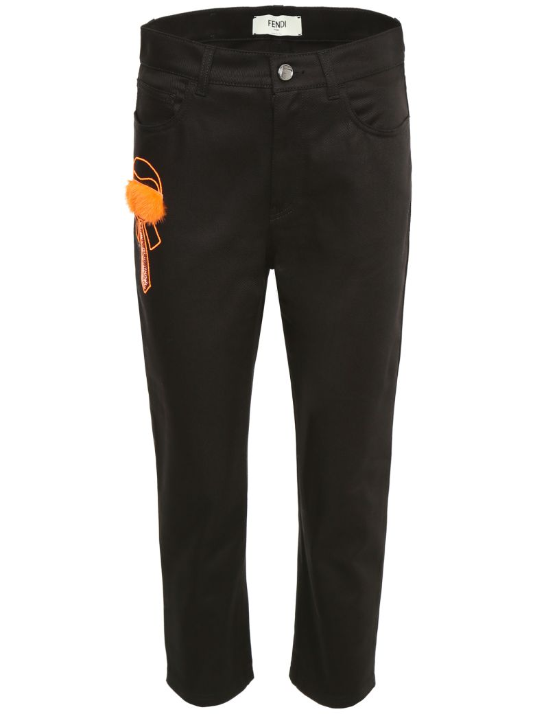 Fendi Karlito Denim Trousers - BLACK|Nero