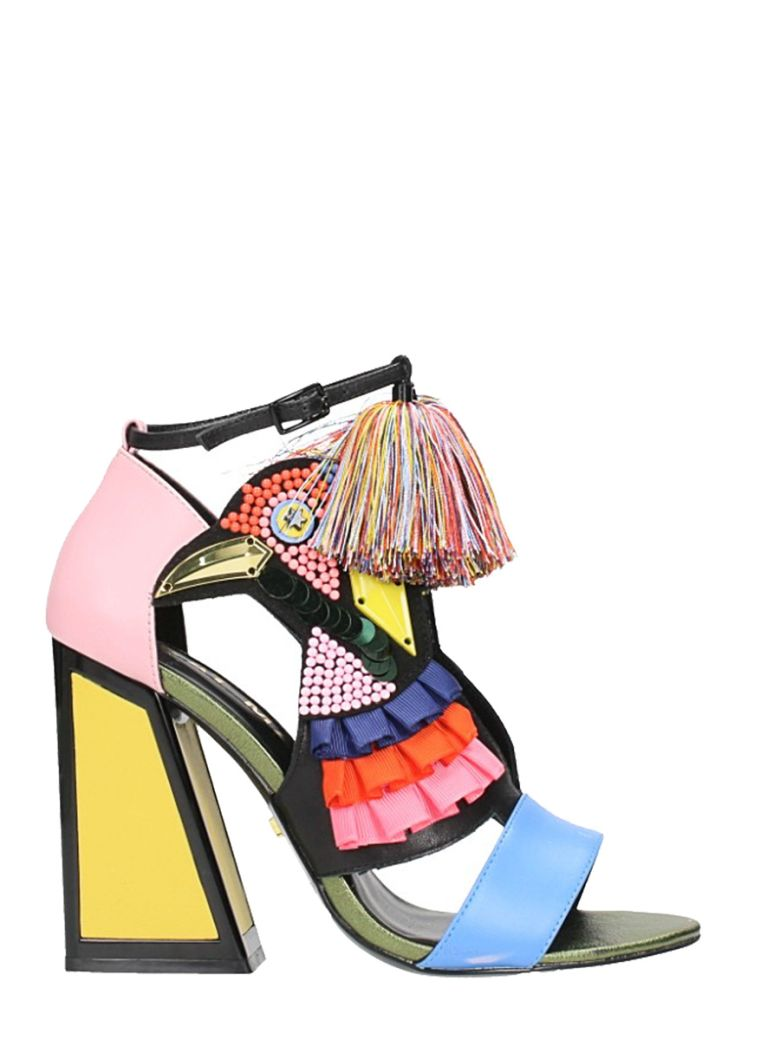 Kat Maconie AYA SANDALS IN MULTICOLOR LEATHER
